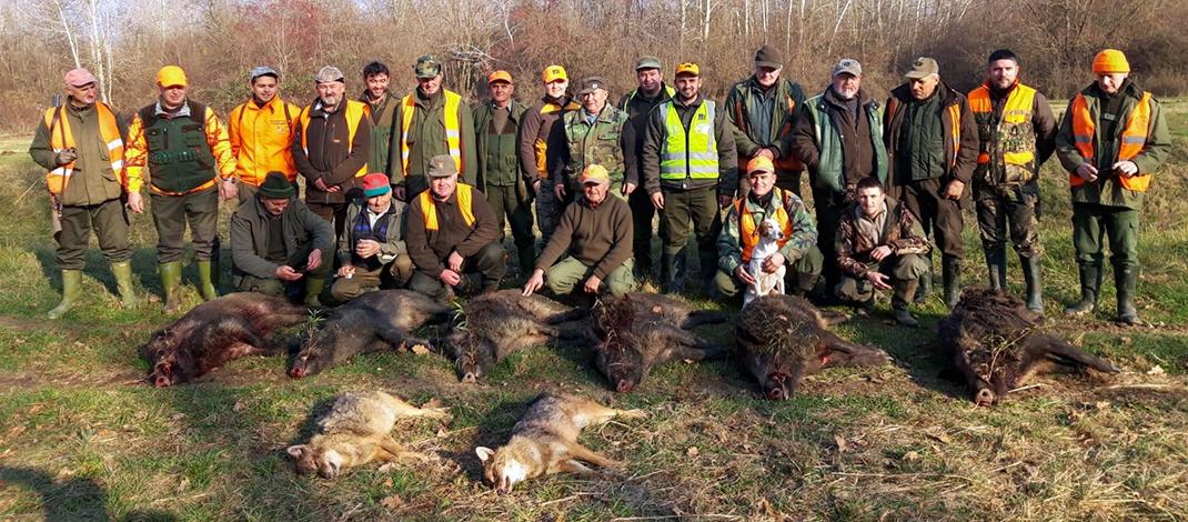 Lovci iz Prugovca (Kloštar Podravski) u Slavonskom Kobašu